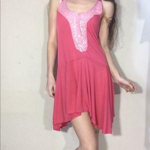 Free People Dresses - Free People Pink Tunic Dress